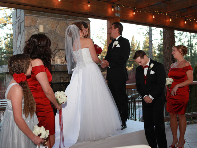 Ceremony at Chalet View Lodge