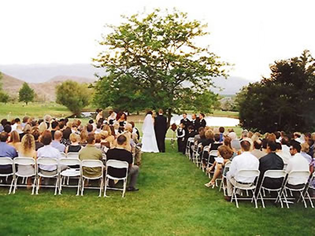 Wedding ceremony at Hidden Valley Golf Club