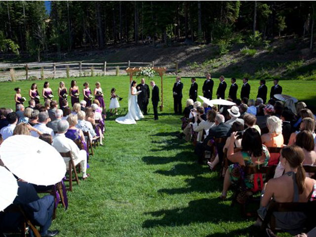 Wedding Ceremony at Northstar