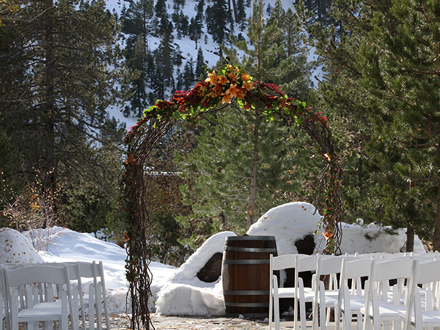 Ceremony site at PlumpJacks event center