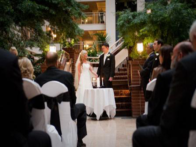 Wedding ceremony at Lake Tahoe Resort Hotel