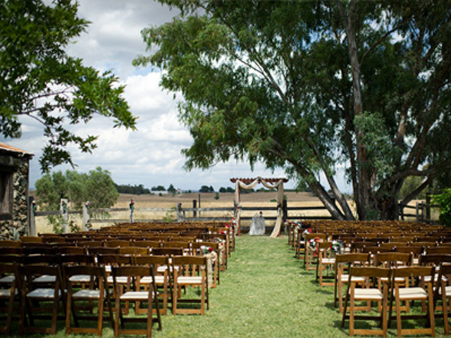 Wedding ceremony at Stone Barn, Sheridan