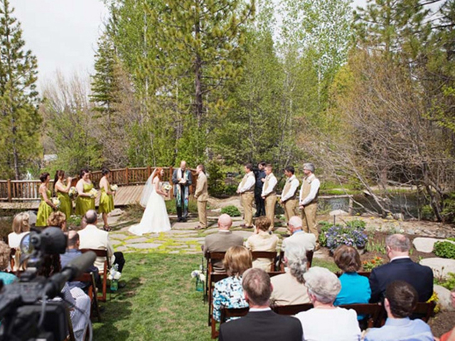 Wedding ceremony at Tahoe Tree Co
