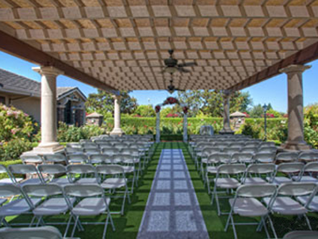Ceremony site in the Rose Garden at Timber Creek Ballroom