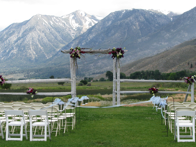Ceremony site at David Walleys Resorte