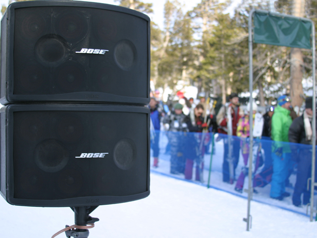 Bose Speakers at ski event