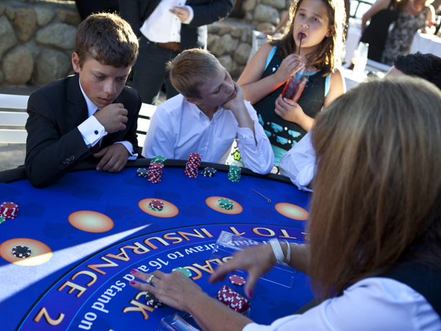 Black Jack table at a Bar Mitzvah