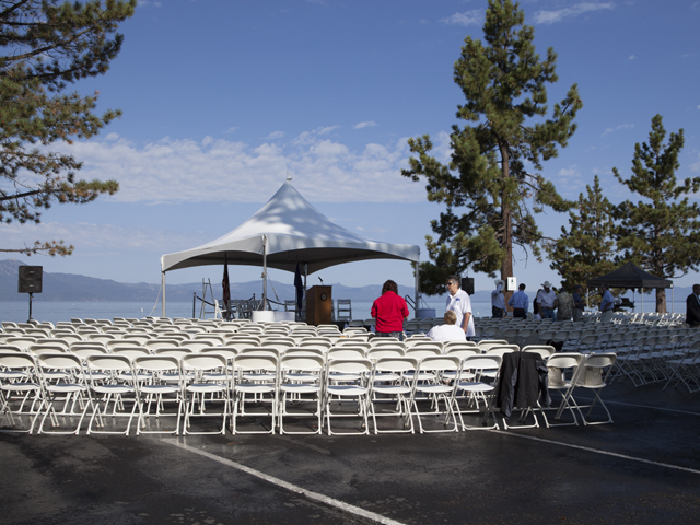 Stage and seats set for Tahoe Summit