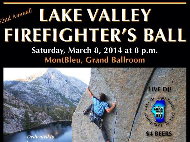 2014 Lake Valley Firefighter Ball poster