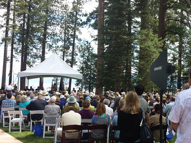 Stage and audience at Tahoe Summit
