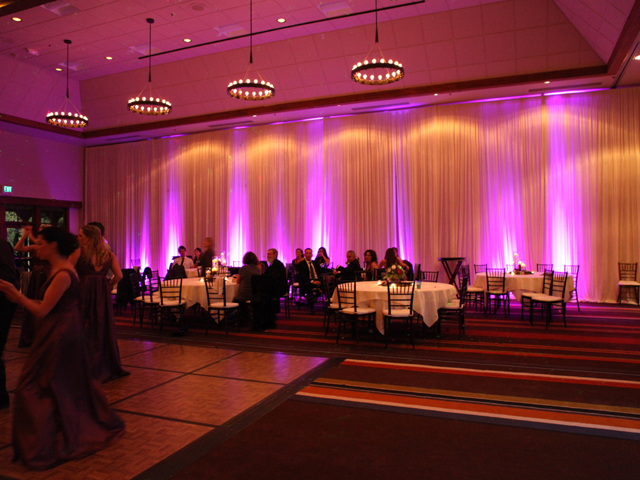 Hyatt Ballroom with LakeDJ Uplights