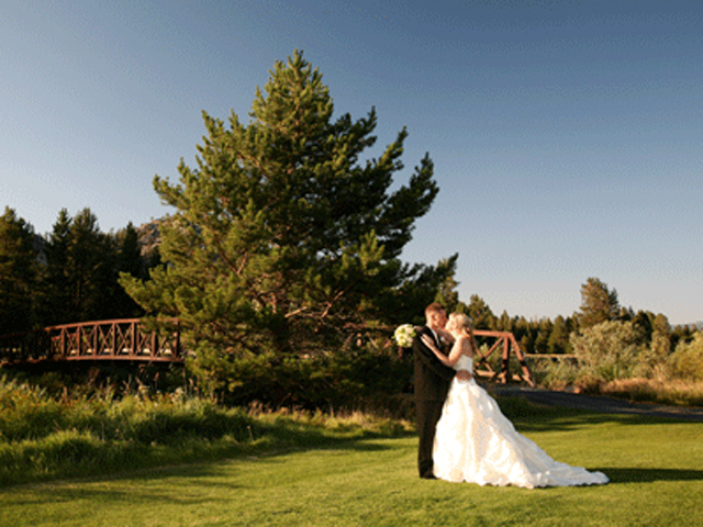 Bride and Groom at Lake Tahoe Golf Club