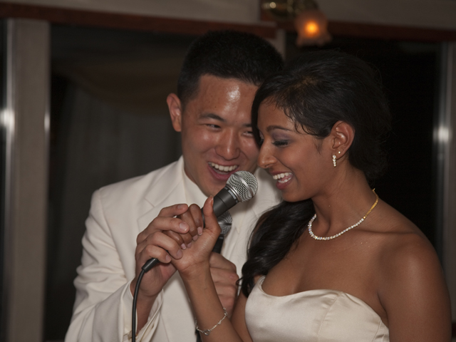 Bride and Groom singing