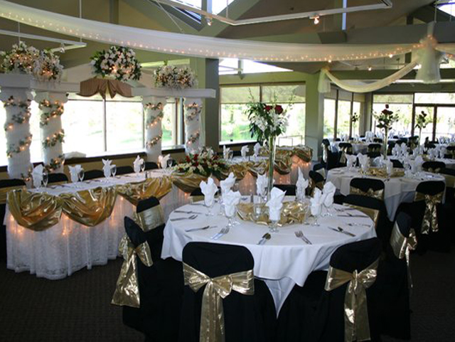 Clubhouse At Rancho Solano set for a wedding reception