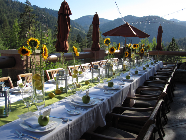 Outdoor reception at the Resort at Squaw Creek