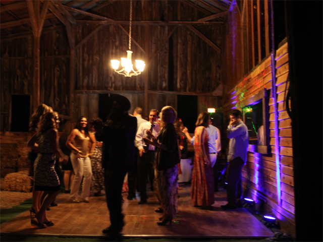 Dancing inside Stone Barn at Sheridan