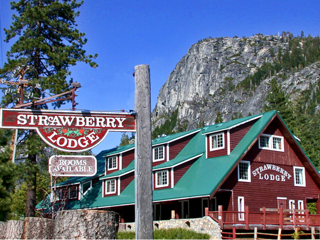 Outside of Strawberry Lodge