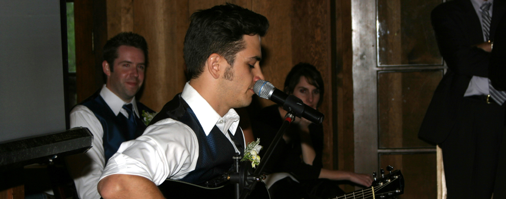Live performer at a wedding